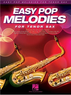 Easy Pop Melodies For Tenor Saxophone Livre | Saxophone Tenor, Paroles et Accords