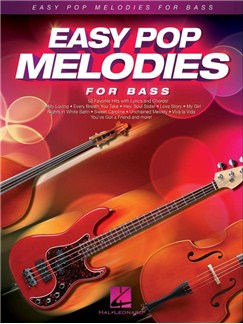 Easy Pop Melodies For Bass Books | Double Bass, Lyrics & Chords, Bass Guitar