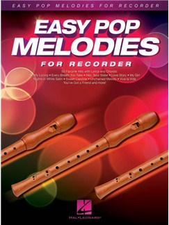 Easy Pop Melodies For Recorder Livre | Flûte à Bec Descant, Paroles et Accords