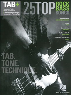 25 Top Rock Bass Songs Books | Bass Guitar Tab