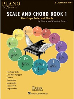 Faber Piano Adventures: Scale And Chord Book 1 - Five-Finger Scales And Chords Books | Piano