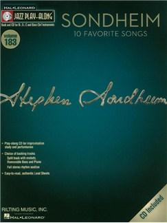 Jazz Play-Along Volume 183: Sondheim - 10 Favorite Songs (Book/CD) Books and CDs | B Flat Instruments, E Flat Instruments, Bass Clef Instruments, C Instruments