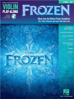 Violin Play-Along Volume 48: Frozen Audio Digitale et Livre | Violon