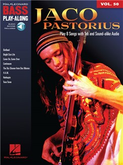 Bass Play-Along Volume 50: Jaco Pastorius (Book/Online Audio) Books and Digital Audio | Bass Guitar