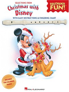 Selections From Recorder Fun!®: Christmas With Disney Books | Recorder