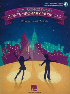 Kids' Songs From Contemporary Musicals (Book/Online Audio) Books and Digital Audio | Voice, Piano Accompaniment