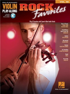 Violin Play-Along Volume 49: Rock Favorites Livre | Violon