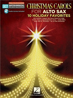Alto Saxophone Easy Instrumental Play-Along: Christmas Carols (Book/Online Audio) Books and Digital Audio | Alto Saxophone