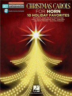 Horn Easy Instrumental Play-Along: Christmas Carols (Book/Online Audio) Books and Digital Audio | French Horn
