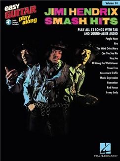 Easy Guitar Play-Along Volume 14: Jimi Hendrix - Smash Hits (Book/Online Audio) Books and Digital Audio | Guitar, Easy Guitar