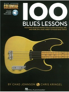 Bass Lesson Goldmine: 100 Blues Lessons (Book/Online Audio) Books and Digital Audio | Bass Guitar
