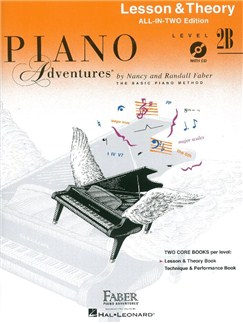 Faber Piano Adventures: Level 2B Lesson And Theory Book - International Anglicized Edition (Book/CD) Books and CDs | Piano