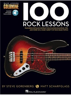 Bass Lesson Goldmine: 100 Rock Lessons (Book/Online Audio) Books and Digital Audio | Bass Guitar