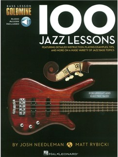 Bass Lesson Goldmine: 100 Jazz Lessons (Book/Online Audio) Books and Digital Audio | Bass Guitar