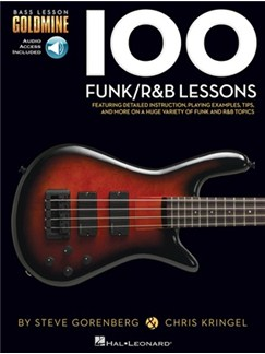 Bass Lesson Goldmine: 100 Funk/R&B Lessons (Book/Online Audio) Books and Digital Audio | Bass Guitar