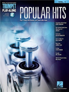 Popular Hits: Trumpet Play-Along Volume 1 (Book/Online Audio) Books and Digital Audio | Trumpet