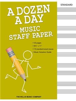 A Dozen A Day: Music Staff Paper  |