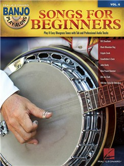 Banjo Play-Along Volume 6: Songs For Beginners (Book/CD) Books and CDs | Banjo
