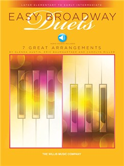 Easy Broadway Duets (Book/Online Audio) Books and Digital Audio | Piano Duet