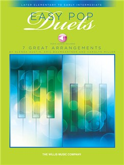 Easy Pop Duets (Book/Online Audio) Books and Digital Audio | Piano Duet
