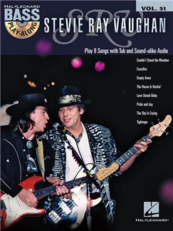 Bass Play-Along Volume 51: Stevie Ray Vaughan (Book/CD) Books and CDs | Bass Guitar