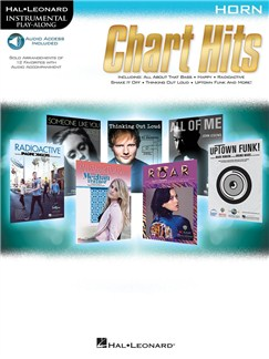 Instrumental Play-Along: Chart Hits - Horn (Book/Online Audio) Books and Digital Audio | French Horn