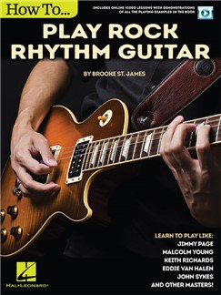Brooke St. James: How To Play Rock Rhythm Guitar (Book/Online Video) Books and Digital Audio | Guitar