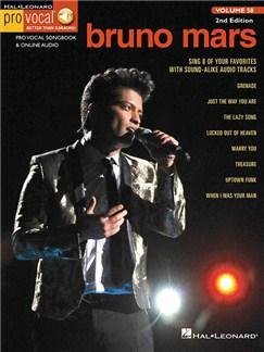 Pro Vocal Men's Edition Volume 58: Bruno Mars (Book/Online Audio) Books and Digital Audio | Voice