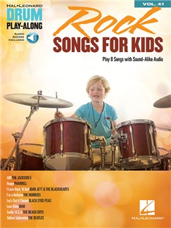 Drum Play-Along Volume 41: Rock Songs For Kids (Book/Online Audio) Books and Digital Audio | Drums