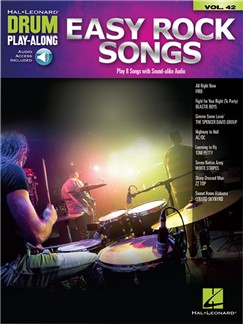 Drum Play-Along Volume 42: Easy Rock Songs (Book/Online Audio) Books and Digital Audio | Drums