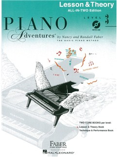 Faber Piano Adventures: Level 3 - Lesson & Theory (Book/CD) Books and CDs | Piano