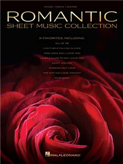 Romantic Sheet Music Collection (PVG) Livre | Piano, Chant et Guitare