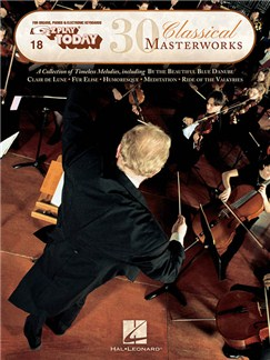 E-Z Play Today 18: 30 Classical Masterworks Books | Piano