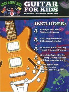 Rock House Kids: Guitar For Kids (Book/DVD) Books and DVDs / Videos | Guitar