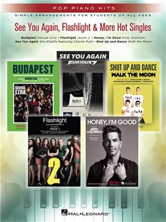 Pop Piano Hits: See You Again, Flashlight & More Hot Singles Books | Piano, Vocal & Guitar