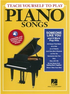 Teach Yourself To Play Piano Songs: Someone Like You And 9 More Pop Hits (Book/Online Media) Audio Digitale et Livre | Piano, Paroles et Accords