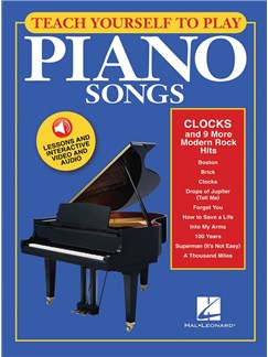 Teach Yourself To Play Piano Songs: Clocks And 9 More Modern Rock Hits (Book/Online Media) Audio Digitale et Livre | Piano
