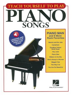 Teach Yourself To Play Piano Songs: Piano Man And 9 More Rock Favorites (Book/Online Media) Audio Digitale et Livre | Piano, Paroles et Accords