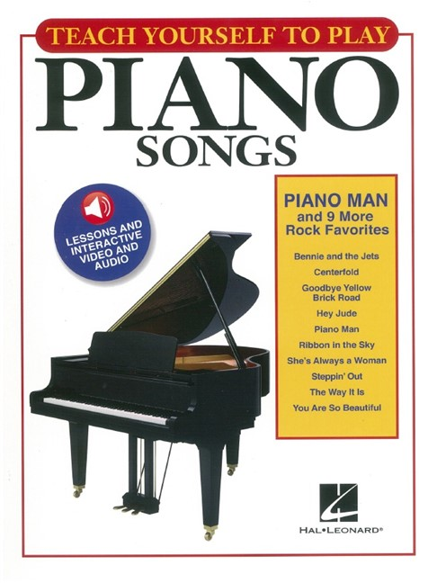 Teach Yourself To Play Piano Songs: Piano Man And 9 More Rock ...