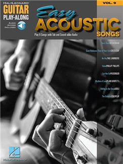 Guitar Play-Along Volume 9: Easy Acoustic Songs (Book/Online Audio) Books and Digital Audio | Guitar Tab