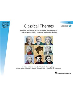 Hal Leonard Student Piano Library: Classical Themes – Level 1 (Book/Online Audio) Books and Digital Audio | Piano