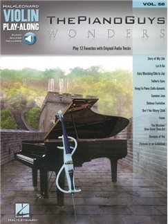 Violin Play-Along Volume 58: The Piano Guys – Wonders (Book/Online Audio) Books and Digital Audio | Violin