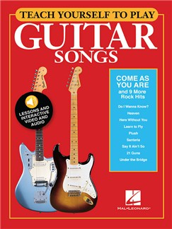 Teach Yourself To Play Guitar Songs: Come As You Are And 9 More Rock Hits (Book/Online Media) Audio Digitale et Livre | Guitare, Paroles et Accords