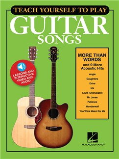 Teach Yourself To Play Guitar Songs: More Than Words And 9 More Acoustic Hits (Book/Online Media) Audio Digitale et Livre | Guitare, Paroles et Accords
