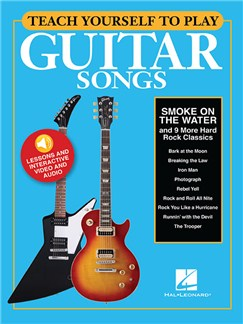 Teach Yourself To Play Guitar Songs: Smoke On The Water And 9 More Hard Rock Classics (Book/Online Media) Audio Digitale et Livre | Guitare, Paroles et Accords