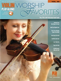 Violin Play-Along Volume 59: Worship Favorites (Book/Online Audio) Books and Digital Audio | Violin