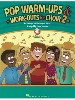 Roger Emerson: Pop Warm-Ups And Work-Outs For Choir - Volume 2 (Book/Online Audio) Audio Digitale et Livre | SATB, Chorale