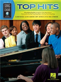 Sing With The Choir Volume 17: Top Hits (Book/Online Audio) Books and Digital Audio | SATB