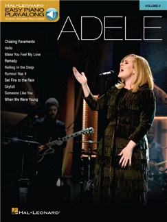 Easy Piano Play-Along Volume 4: Adele (Book/Online Audio) Books and Digital Audio | Easy Piano