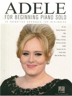 Adele For Beginning Piano Solo Livre | Piano Facile